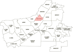Map of Riverside Neighborhoods
