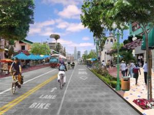 One vision of a Green Riverside, an alternative transportation statement.